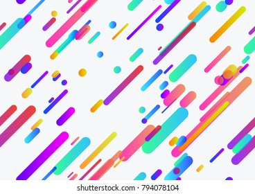 Seamless trendy neon lines pattern seamless background template. Vector illustration