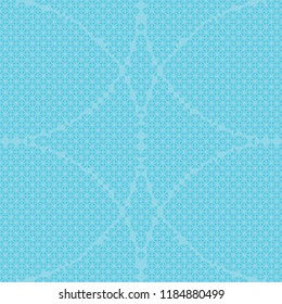 Seamless triangle round pattern vector. Design blue on cyan background. Design print for textile, background, wallpaper, fabric. Set 4