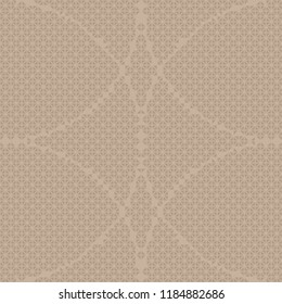 Seamless triangle round pattern vector. Design light brown on beige background. Design print for textile, background, wallpaper, fabric. Set 6