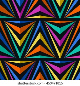 Seamless Triangles Pattern. Abstract Vector Geometric Background for Textile Design