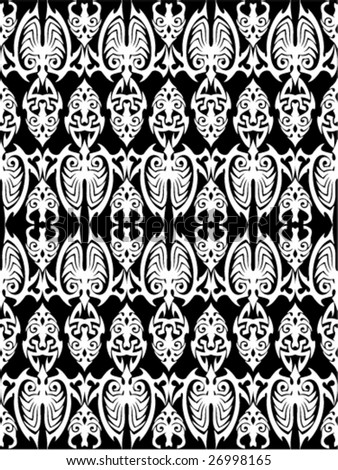 Seamless Tribal Wallpaper Stock Vector Royalty Free 26998165