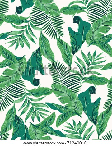 Seamless Tropical Leaves Pattern Vector Stock Vector Royalty Free Stunning Tropical Leaves Pattern