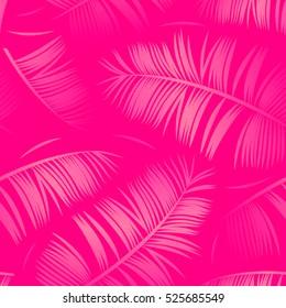 Seamless tropical pattern fuchsia color.Vector illustration.