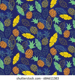 Seamless tropical pattern. Vector illustration