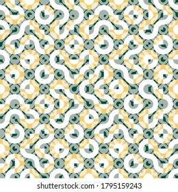 Seamless Truchet vector repeat design. Geometric pattern for wallpapers, web page backgrounds, surface textures, fashion fabric, carpet design, curtains and home décor.
