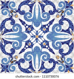 Seamless turkish colorful pattern. Vintage multicolor pattern in Eastern style.  Pattern can be used for ceramic tile, wallpaper, linoleum, textile, surface textures, web page background or paper.