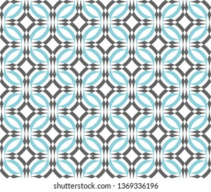Seamless turquoise and gray geometric pattern vector