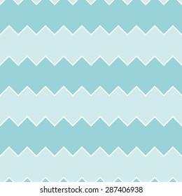 Seamless turquoise sawtooth zig-zag pattern background