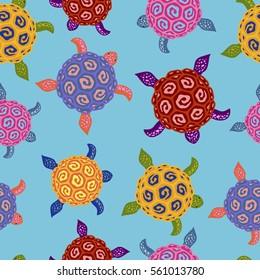 Seamless Turtle Pattern