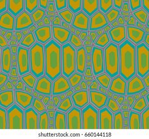 seamless turtle shell pattern
