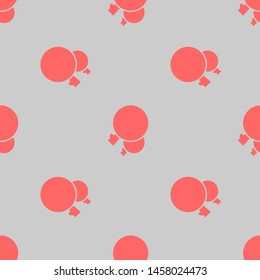 Seamless two color coral trees couple with circular foliage flat pattern on gainsboro background.