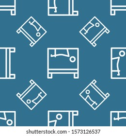 Seamless two color ghost white exercises with cadillac flat pattern on steel blue background.