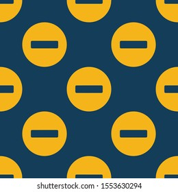 Seamless two color golden rod stop flat pattern on dark slate gray background.