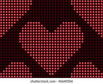 Seamless Valentine's day love heart light panel. Editable Vector Image