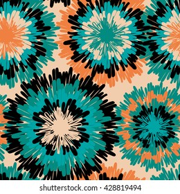 Seamless vector abstract pattern. Artistic stylish pattern with grunge circles.Hipster colors.