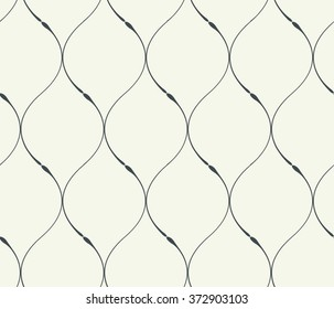 Seamless vector abstract smooth lines pattern background