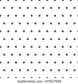 Seamless vector background with cat paws. Print. Repeating background. Cloth design, wallpaper.