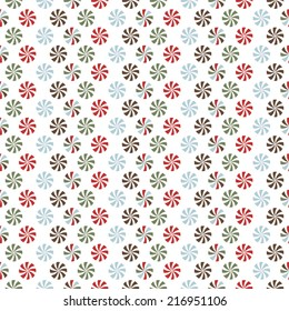 Seamless Vector Background Christmas Mints