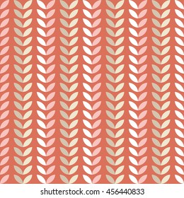 Seamless vector background with decorative leaves. Print. Repeating background. Cloth design, wallpaper.