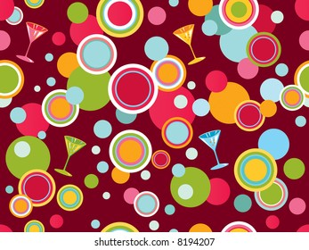 Seamless vector background with party design