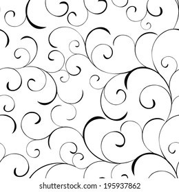 Seamless vector background with swirls