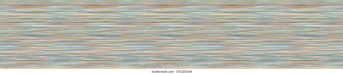 Seamless vector banner pattern marl stripe. Rainbow variegated heather texture border background. Vintage 70s style striped abstract ribbon trim edge.