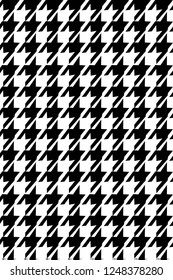 Seamless vector black and white dogtooth pattern.fashion textile pattern