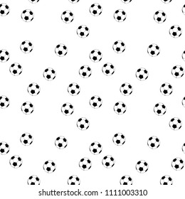 Seamless vector black and white football background