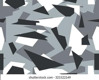 Seamless vector camouflage series - Alpine