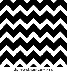 Seamless vector chevron pattern black and white. Design for wallpaper, fabric, textile, wrapping. Simple background
