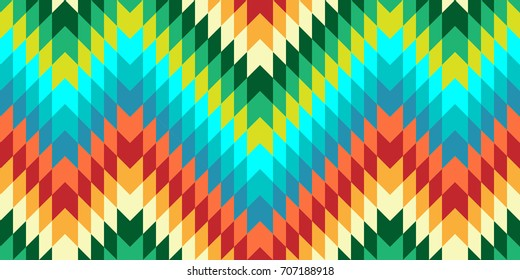 Seamless Vector Chevron Pattern for Textile Design. Stylish Modern Art. Psychedelic Mix of Triangles