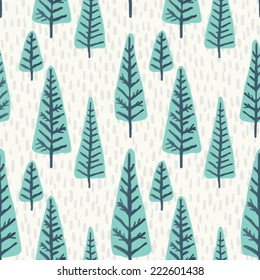 Seamless vector Christmas tree pattern.