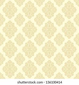 Seamless vector classic golden-yellow pattern