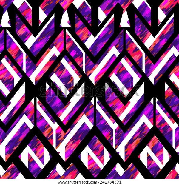 seamless vector cut out design. for fashion and interior. primitive tribal style with a modern twist.