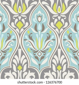 Seamless vector damask pattern. Classic background