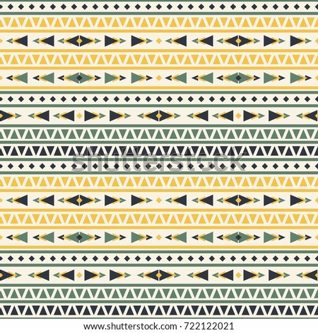 Seamless Vector Decorative Pattern Geometric Ornaments Stock