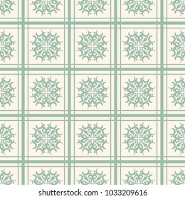Seamless vector decorative pattern with ornament. Background for printing on paper, wallpaper, covers, textiles, fabrics, for decoration, decoupage, scrapbooking and other