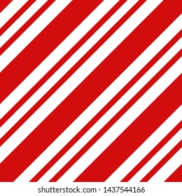 Seamless vector diagonal stripe pattern. Design for wallpaper, fabric, textile. Simple background, red candy cane stripe