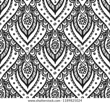 faaedc16a811 Seamless Vector Eastern Filigree Doodle Pattern Stock Vector ...
