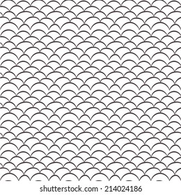 Seamless Vector Fish Scales Background