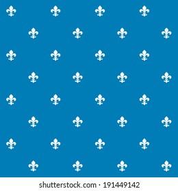 Seamless Vector Fleur de Lys Background Texture Pattern