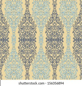 Seamless vector floral laced pattern