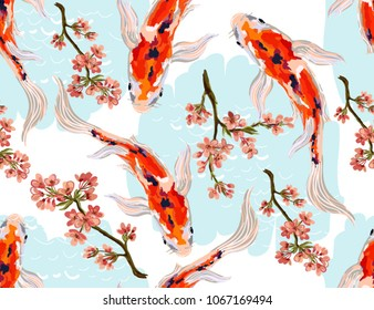 Koi Japanese Stock Illustrations Images Vectors Shutterstock