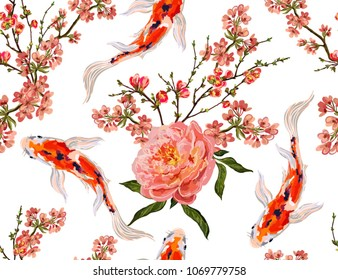 Japanese Koi Fish Art Wallpaper