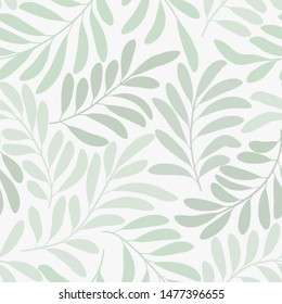 Seamless vector floral pattern. Delicate subtle botanical background