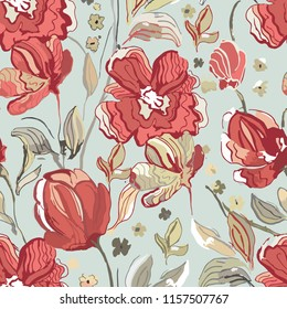 seamless vector flover pattern