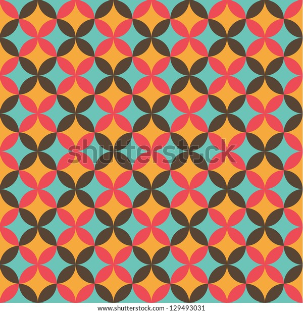 Seamless vector flower pattern background