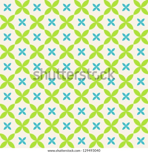 Seamless vector flower pattern background