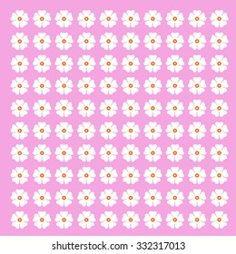 Seamless vector flowers pattern. Art modern creative and decorative color rich flowers. Simple ornate element of leaf repeat. Valentine, mother day. Rose purple, baby background