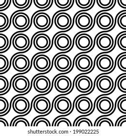 Seamless vector geometric ,Circle pattern background